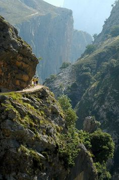 This photo from Asturias, Asturias is titled 'La garganta del Cares Places To Travel, Places To See, Wonderful Places, Beautiful Places, Asturias Spain, Dangerous Roads, Places In Spain, Biarritz, Spain And Portugal