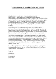 printable sample letter of intent sample form graduate school job cover letter writing a