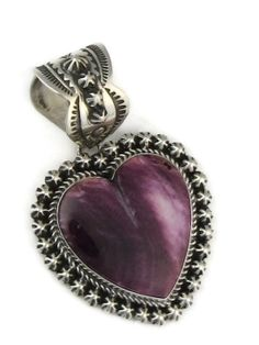 Purple Spiny Oyster Shell Heart Pendant by Happy Piaso from Southwest Silver Gallery http://www.southwestsilvergallery.com/AWSCategories/p/412/Heart-Pendants