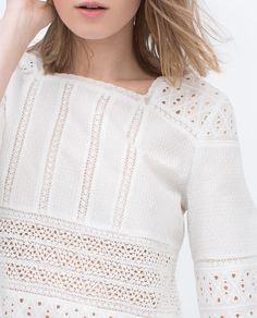 LACE TOP-Blouses-Tops-WOMAN | ZARA Costa Rica