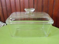 Vintage Pyrex Brand Westinghouse Clear Glass Loaf/Bread Pan With Lid by peacenluv72 on Etsy