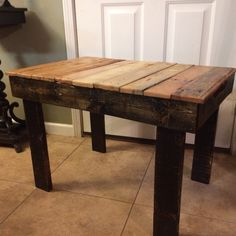 End Table made from pallet.