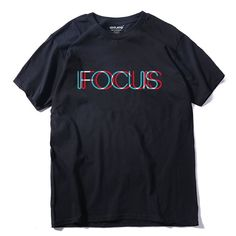 Pure 100% cotton short sleeve Focus printed T Shirt