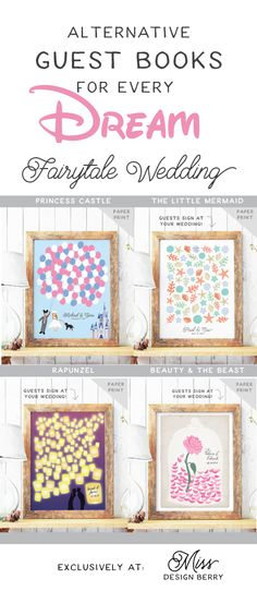 Wedding #guestbooks for every type of dream fairytale wedding! Only at Miss Design Berry