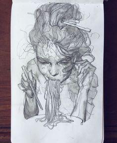 Beautiful sketches by Eliza Ivanova instagram.com/eleeza