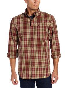 Amazon.com: Carhartt Men's Bellevue Plaid Long Sleeve Shirt: Clothing