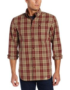 Amazon.com: Carhartt Men's Bellevue Plaid Long Sleeve Shirt: Clothing