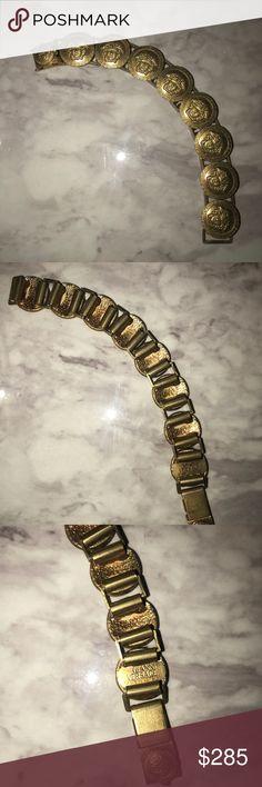 Vintage signed VERSACE Medusa gold bracelet I'm good vintage condition. Signed VERSACE bracelet  NO TRADES. Versace Jewelry Bracelets