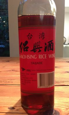 I am an absolute and unashamed omnivore, but I certainly am prone to culinary crushes. That's to say, I can spend weeks majoring in certain ingredients just because my infatuation is such that I can hardly bear not to cook with them. At the moment I am having a real Shaohsing Rice Wine (often just sold as Chinese rice wine) moment. I happen to adore my bottle with its Chinese red and black label, as you can see...