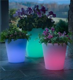 Main image for Large Color-Changing Solar Planter