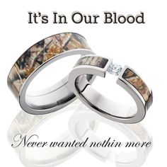 camo wedding rings for the couples that have camouflage in their blood and in their roots - Orange Camo Wedding Rings