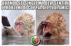 Quando sei single ma devi sentire i problemi di coppia dei tuoi amici. (www.VignetteItaliane.it)