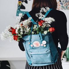 Fjallraven Kanken Air Blue Backpack   Urban Outfitters   Women's   Accessories   Bags & Purses via @i_stolethemoon #UOEurope #UrbanOutfittersEU #UOonYou