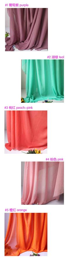 Chiffon fabric sheer bridal dress skirt wedding dress lining fabirc costume sew decorative chiffon