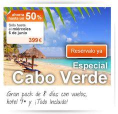 Gran pack de 8 días con vuelos, hotel 4* y ¡Todo Incluido! Sólo en el Outlet de Viajar.com hasta el miércoles 6 de junio ¡Resérvalo ya! http://bit.ly/Lc6EvO