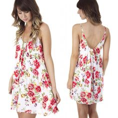 """Girly as could be  NEW """"flouncing florals dress"""" ($34.99) available in store at #sophieandtrey and online at www.sophieandtrey.com! #freeshipping #trend #fashion #boutique #love #chic"""
