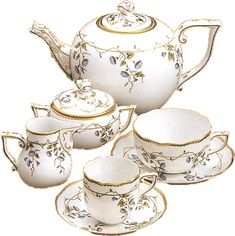 Herend, porcelain Teapots And Cups, Tea Art, Tea Service, Coffee Set, Chocolate Pots, Vintage Tea, Dinnerware, Tea Cups, Pottery