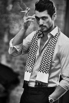 David Gandy Sports Timeless Menswear for Grazia Italy Shoot