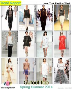 Cutout Top Fashion #Trend for Spring Summer 2014 #Cutout  #Spring2014 #Trends