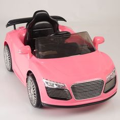 kids ride on car electric power remote control wheels mp3 pink upgraded with a 6v 10ah