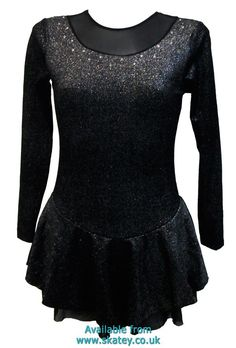 Sparkle Velvet Long Sleeve Figure Skating Dress. Part of the Chloe Noel Ice Skating Dresses collection available to buy from Skatey.co.uk