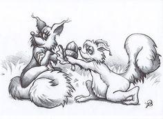 my love for you original drawing original animal by TanPlatt