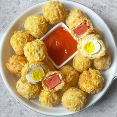 Resep olahan telur sederhana Instagram Egg Recipes, Snack Recipes, Dessert Recipes, Cooking Recipes, Recipies, Brownie Desserts, Pudding Desserts, Easy Sauce Recipe, Coconut Dessert