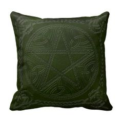 Pentagram Embossed On Leather Look 5-Throw Pillow