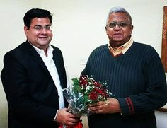After Honouring,Felicitating & Inculcating the spirit of growth & motivation in the shining lads of Kashmir-Tajamul & Hashim Manzoor,it was another wonderful experience meeting Sh. Tathagata Roy, Hon'ble Governor of Tripura at the Tripura Bhavan ( Delhi) over a fruitful discussion on the Broad spectrum of Civil Engineering & it's viability to enlighten the students of Aryans Group of Colleges, Chandigarh.
