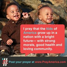 Prayer for America's kids!