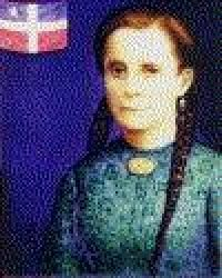 """Mariana Bracetti - 1825 to 1903 Añasco, Puerto Rico was a patriot and leader of the Puerto Rico independence movement in the 1860s. She is attributed with having knitted the flag that was intended to be used as the national emblem of Puerto Rico in its attempt to overthrow the Spanish government on the island, and to establish the island as a sovereign republic. The attempted overthrow was the Grito de Lares, and Bracetti's creation became known as """"The Flag of Lares."""""""