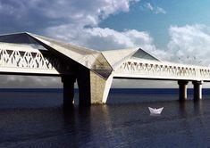 Skyscrapers and Scaffoldings in Symbiosis Bridges Architecture, Urban Architecture, Car Park Design, Best Cordless Vacuum, Hadid Architect, Bridge Design, Retro Waves, Yanko Design, Beautiful Buildings