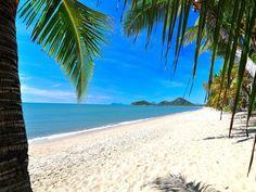 White sand, Clifton Beach, Qld. Love, love, love