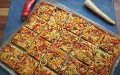 Ruokaisa gluteeniton kasvispiirakka | Himoleipuri 200 Calories, Vegetable Pizza, Quiche, Zucchini, Gluten Free, Baking, Vegetables, Breakfast, Food