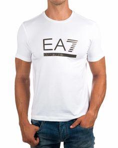 Camisetas Armani EA7 logo Bronce - Blanco | Envio Gratis