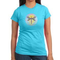 Pastel Dragonfly Junior Jersey T-shirt (dark)