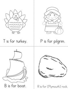 ABC's of Thanksgiving  Mini Book from TwistyNoodle.com