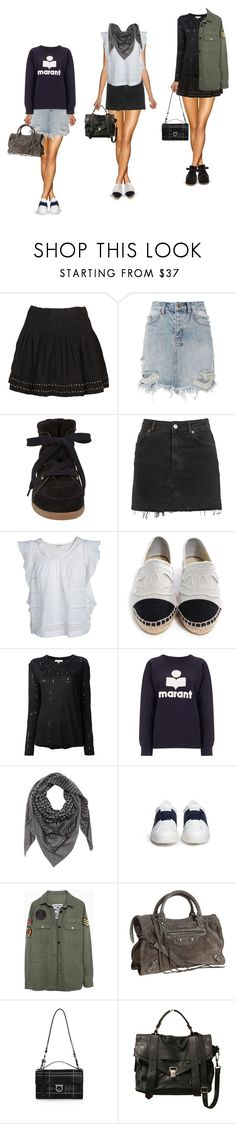 """FASHION"" by liva-haarup ❤ liked on Polyvore featuring Étoile Isabel Marant, Ksubi, Isabel Marant, Topshop, Chanel, IRO, Valentino, Zadig & Voltaire, Balenciaga and Salvatore Ferragamo"