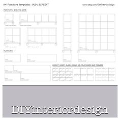 Graph Paper template grid in METERS A4 DIY floor plan for interior