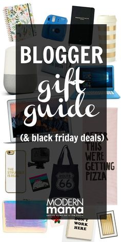 Gift guide for bloggers and girl bosses. ModernMama.com #giftguide #christmasgifts
