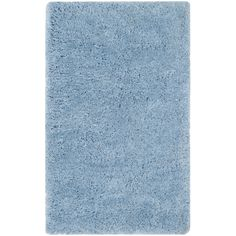 Safavieh Supreme Shag Light Blue Polyester Rug (3' x 5')   Overstock.com Shopping - The Best Deals on 3x5 - 4x6 Rugs