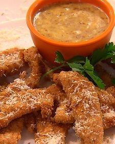 RITZ's Pecan-Parmesan Chicken Tenders with Honey-Mustard Dipping Sauce Recipe