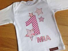"""Langarmshirts - Geburtstagsshirt """"rosa Sternenmeer"""" - ein Designerstück von tinybutton bei DaWanda"""