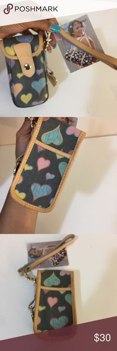 D&B Vintage Wallet This is a NWT Vintage Dooney and Bourke wallet phone case. New and in perfect condition!! Dooney & Bourke Bags Clutches & Wristlets