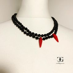 Gemstone Necklace, Designer, Goth, Gemstones, Instagram, Unique Jewelry, Red, Beautiful, Style