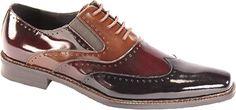 Giorgio Venturi 6296 - Black/Burgundy/Light Brown Polished Leather - Free Shipping & Return Shipping - Shoebuy.com