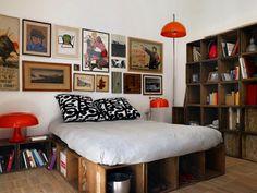 #bed #wood #boxforbooks