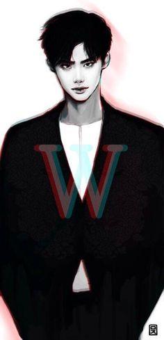 Lee jong suk fan art w dorama Lee Joon, W Two Worlds Art, W Two Worlds Wallpaper, W Kdrama, Lee Jong Suk Wallpaper, Jong Hyuk, Lee Jong Suk Cute, Kang Chul, Han Hyo Joo