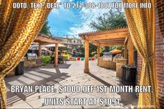 """Deal of the Day: BRYAN PLACE: $1000 OFF 1st month rent units start at $1091. Apartment is paying 150% of 1 months rent as commission 1/2 of which is urs as a thank you for using our services. Live minutes away from downtown and uptown without paying the high prices. Just east of 75 with all the amenities including a resort style pool. Text """"DEAL"""" to 214-308-1807 for more info on this property.  Don't forget to put down """"Help Urself Leasing"""" when filling out ur lease application to get back…"""