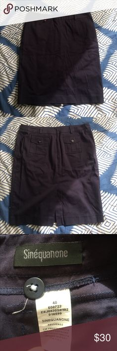 Sinequanone Navy Blue Pencil Skirt size 6 Sinequanone Navy Blue Pencil Skirt size 6 (says 40 but it's euro sized) Nordstrom Skirts Pencil